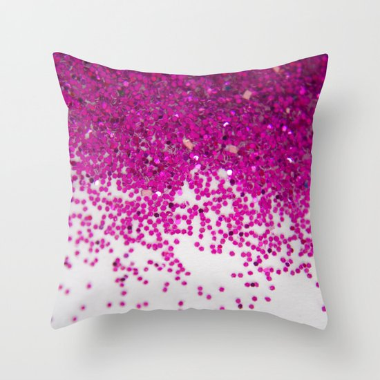 Fun I (NOT REAL GLITTER) Throw Pillow