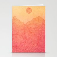 Sunset Mountain - 2 Stationery Cards