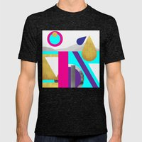 Abstractions No. 2: Mountains Mens Fitted Tee Tri-Black SMALL