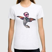 ZEBRA FLY Womens Fitted Tee Ash Grey SMALL