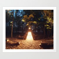 Light of the Teepee Art Print