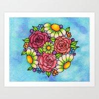 Rosie Ornament Cubist Style Art Print