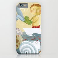 iPhone & iPod Case featuring Clovis bailing the water out by Sonia Poli