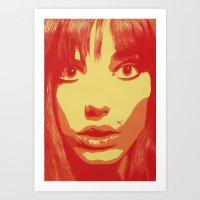 Jane Birkin Art Print
