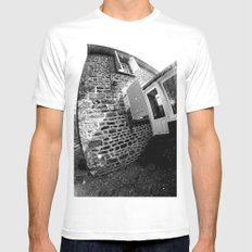Confused Houses Mens Fitted Tee White SMALL