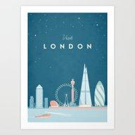 Vintage London Travel Po… Art Print