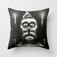 Hu! Throw Pillow