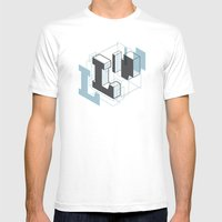 The Exploded Alphabet / L Mens Fitted Tee White SMALL