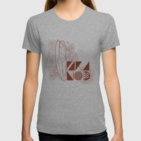 I SURF Womens Fitted Tee Athletic Grey SMALL