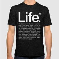 Life.* Available For A L… Mens Fitted Tee Tri-Black SMALL