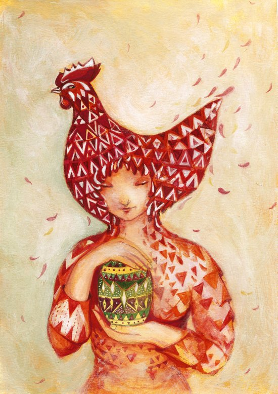 chicken or the egg? Art Print