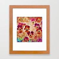 Spring Pansies Framed Art Print