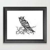 Owl Drawing July 2015 Framed Art Print