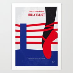 No597 My Billy Elliot minimal movie poster Art Print