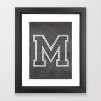 Letter M Framed Art Print