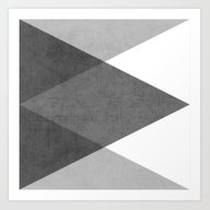 Black And White Triangle… Art Print