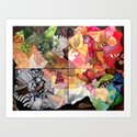 Collage Paintings Art Print