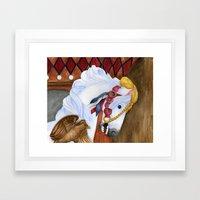 Carousel Horse - Saffron Framed Art Print