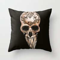 Skulll Throw Pillow