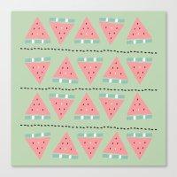Watermelon Repeat Canvas Print