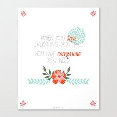 When you LOVE Canvas Print