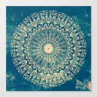 BLUE ORGANIC MANDALA Canvas Print
