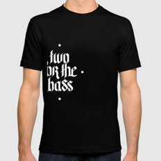 one for the bass Mens Fitted Tee Black SMALL