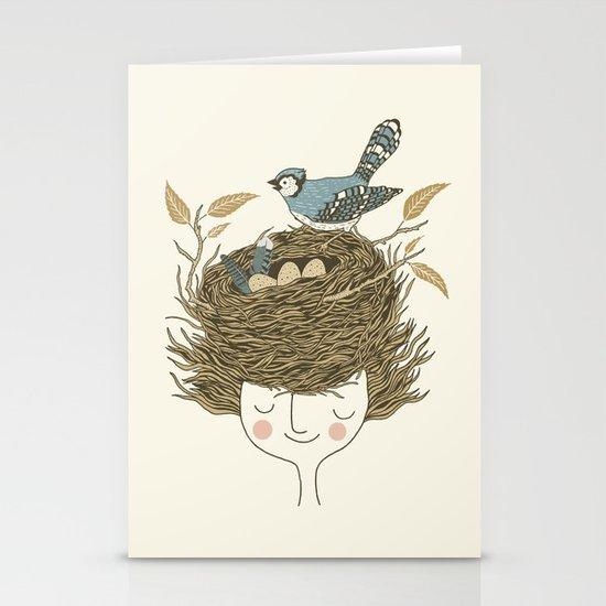 Bird Hair Day Stationery Card