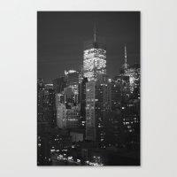 New York City Night Scen… Canvas Print