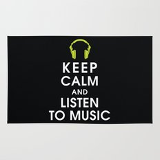 Keep Calm and Listen to Music Rug