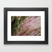 Her whispers were draped in shades of pink. Framed Art Print