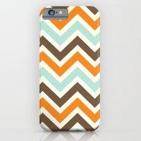 Orange Pop Chevron iPhone 6 Slim Case