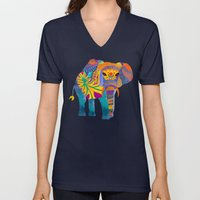 Whimsical Elephant Unisex V-Neck
