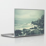Laptop & iPad Skin featuring Blue Rock Beach by Conundrum Arts