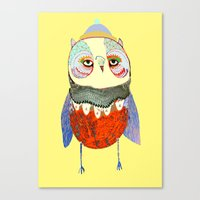 Owl Chick Canvas Print