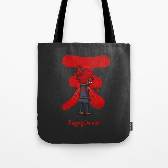 Raging Demon Tote Bag