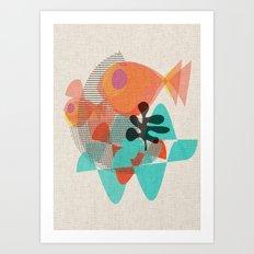 Piranas Art Print