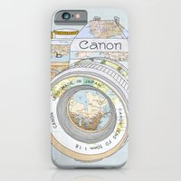 iPhone Cases featuring Travel Canon by Bianca Green