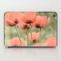 Pink Poppies Patterns iPad Case