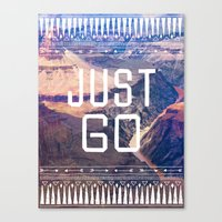 JUST GO Canvas Print