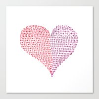 Hugs & Kisses Canvas Print