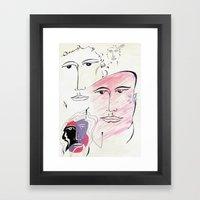 four seasons Framed Art Print