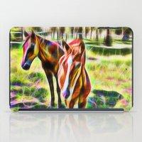 Horses In A Field iPad Case