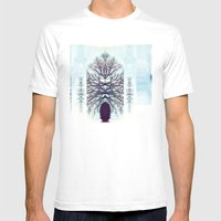 SymmeTREE Mens Fitted Tee White SMALL