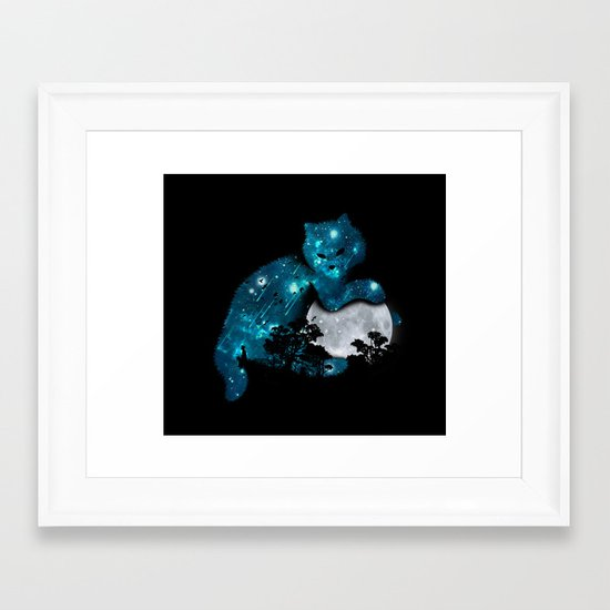 I can haz the moon Framed Art Print