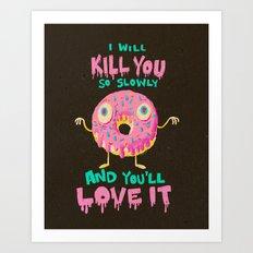 Killer Donut Art Print