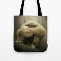 Study Of A Gibbon - The … Tote Bag