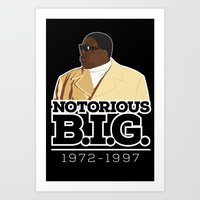 Christopher 'Notorious B.I.G.' Wallace Art Print