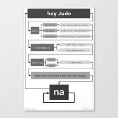 Hey Jude flowchart Canvas Print