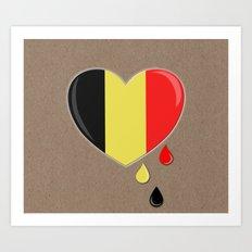 Crying For Belgium Bruss… Art Print